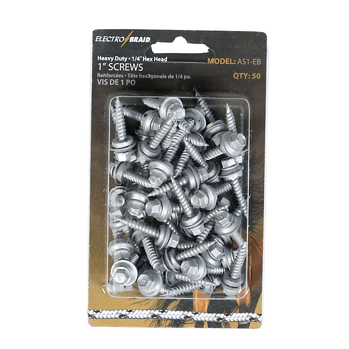 ElectroBraid 1″ HEX Head Screws (50 Per Pk)
