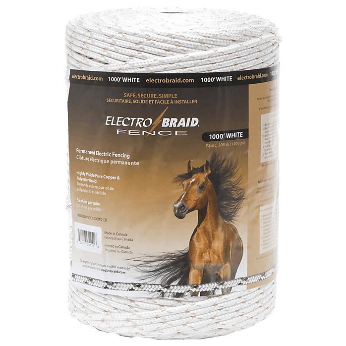 Electrobraid Fence 1000 Foot Reel White