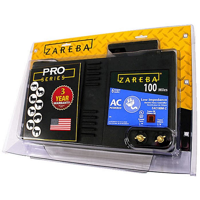 100 Mile AC Powered Low Impedance Electric Fence Charger