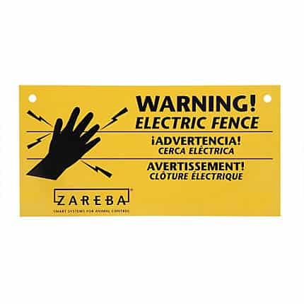ElectroBraid Fence Warning Sign – 3 Pack